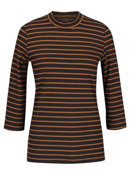 Bluză gri & portocaliu VERO MODA Sailor cu mâneci trei sferturi