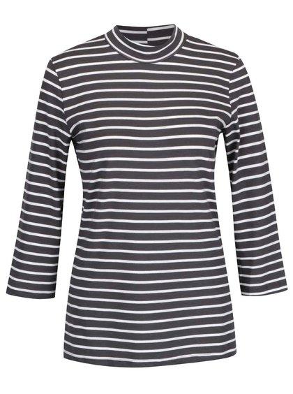 Tmavosivé pruhované tričko s 3/4 rukávmi Vero Moda Sailor
