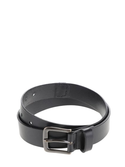 Černý kožený pásek Pieces Palko