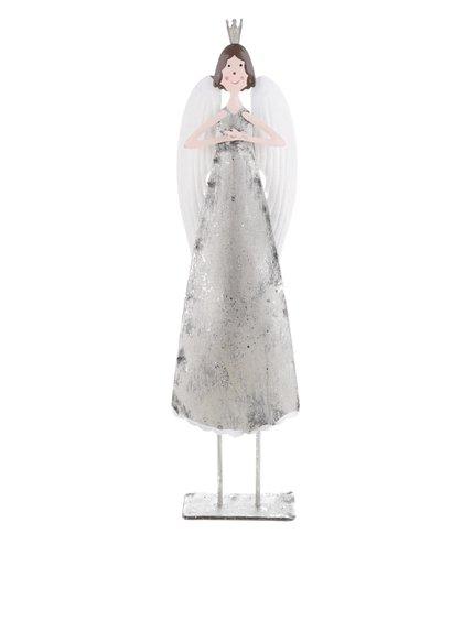 Vyšší soška anděla ve stříbrné barvě CGB
