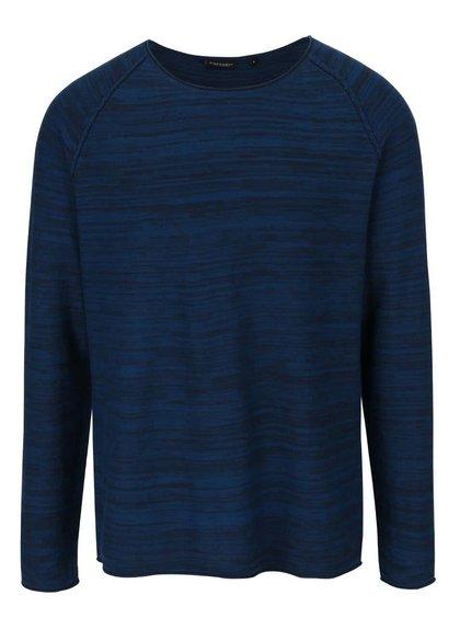 Modrý žíhaný pánský svetr Broadway Nels