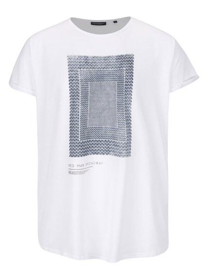 Bílé pánské triko s potiskem Broadway Reza