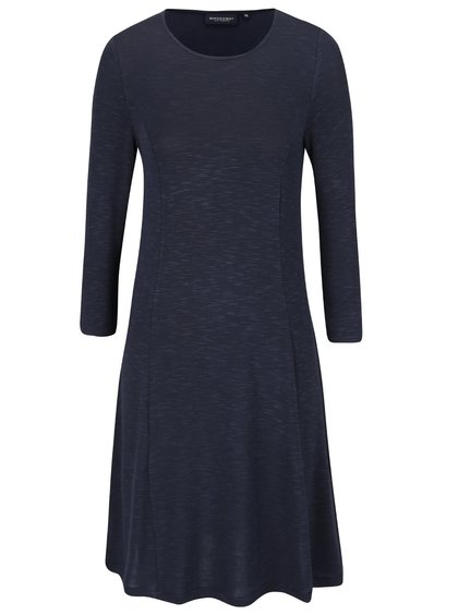 Tmavomodré šaty s 3/4 rukávom Broadway Racquel