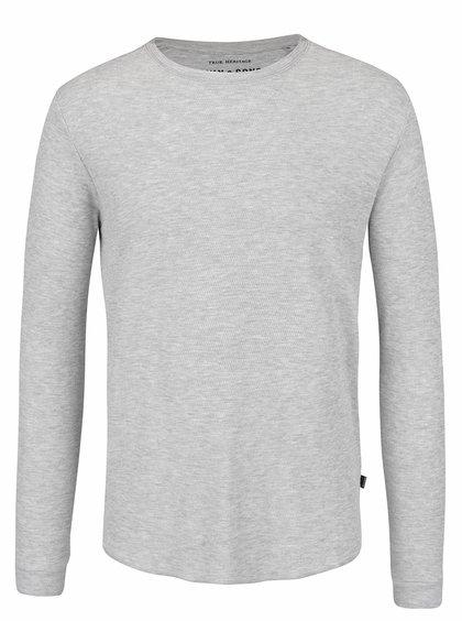 Světle šedé triko s jemným vzorem ONLY & SONS Karl