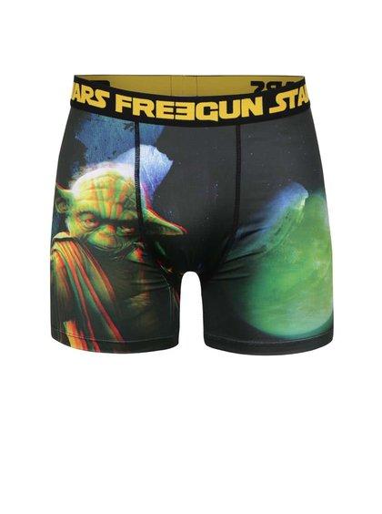 Černé boxerky s 3D potiskem Starwars Freegun