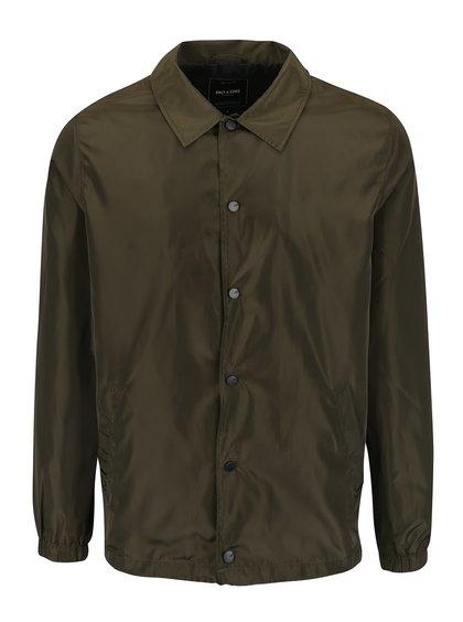 Khaki lehká propínací bunda ONLY & SONS Coach