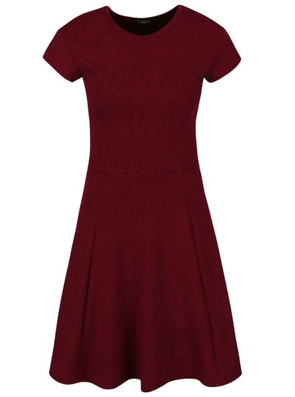 Vínové šaty s jemným plastickým vzorem ZOOT