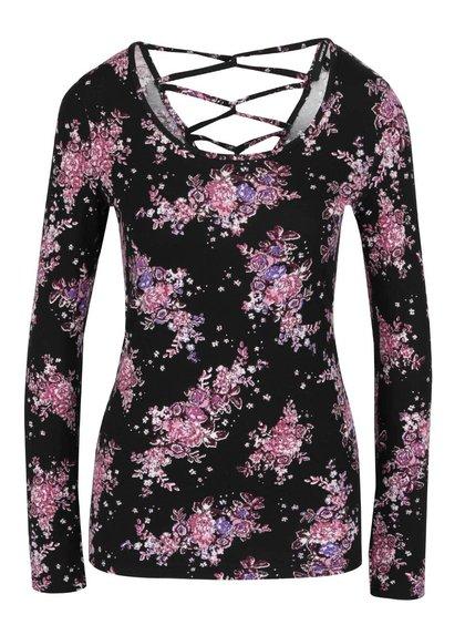 Bluză neagră TALLY WEiJL cu imprimeu floral