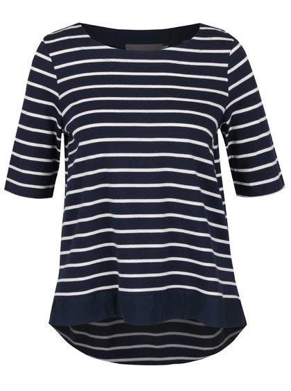 Bílo-modré pruhované tričko s 3/4 rukávy VERO MODA Sui
