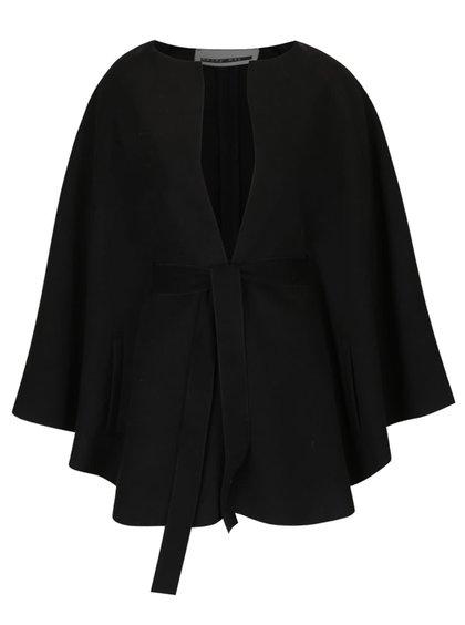Černé kabátové pončo s páskem VERO MODA Starry