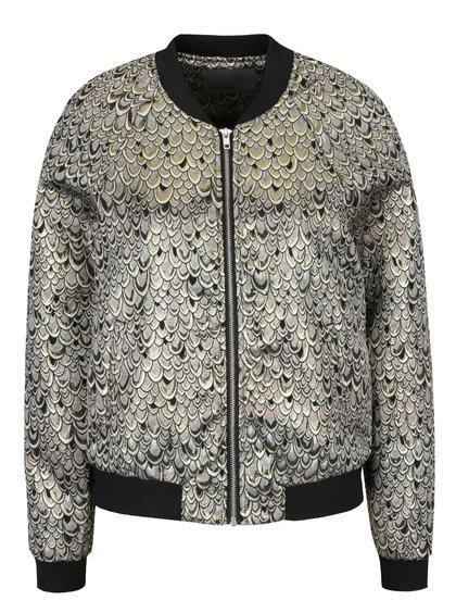 Jachetă bomber gri cu auriu Vero Moda Anna