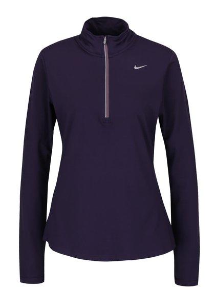Bluză sport violet Nike Dry Element cu guler înalt pentru femei