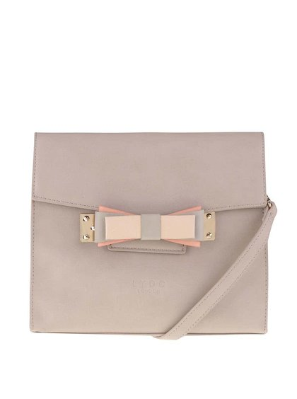 Béžová menší kabelka s mašlí LYDC