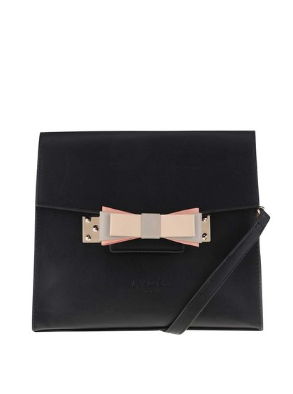 Černá menší kabelka s mašlí LYDC