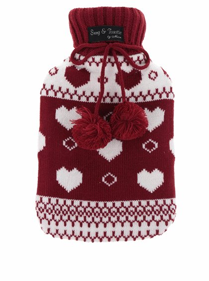 Pungă termică roșie cu husă tricotată Something Special