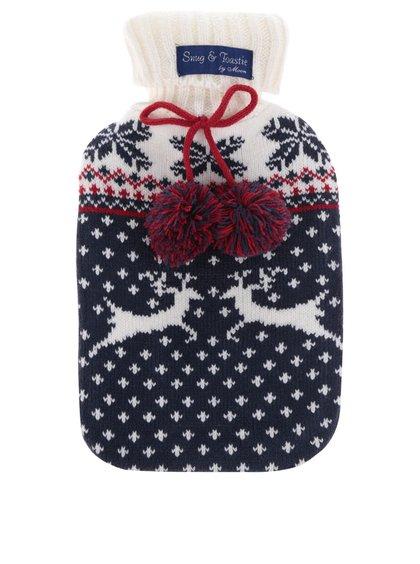 Pungă termică cu tricot Something Special cu model de Crăciun
