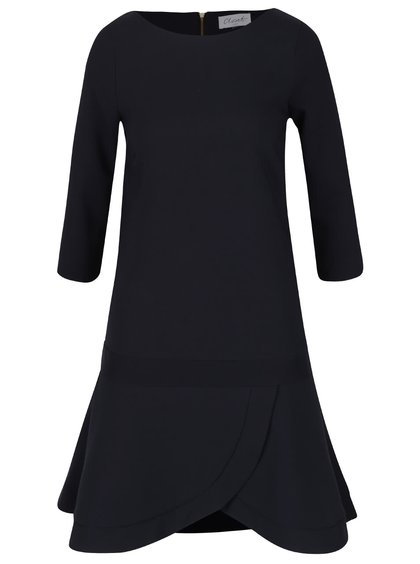 Tmavomodré šaty s 3/4 rukávom Closet
