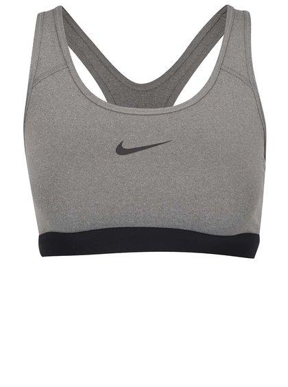 Bustier gri Nike Pro Classic cu print cu logo