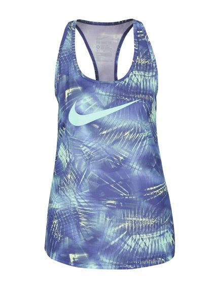 Zeleno-modré dámske tielko Nike Dry Training