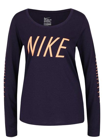 Fialové dámské funkční tričko Nike Dry Training