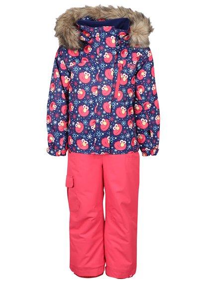 Costum de ski albastru cu roz Roxy pentru fetițe