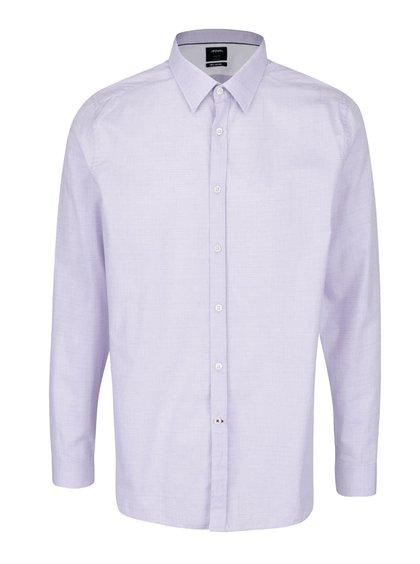 Světle fialová formální slim fit košile s jemným vzorem Burton Menswear London