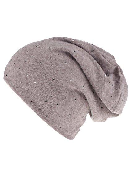 Béžová čiapka Haily´s Mütze Strass