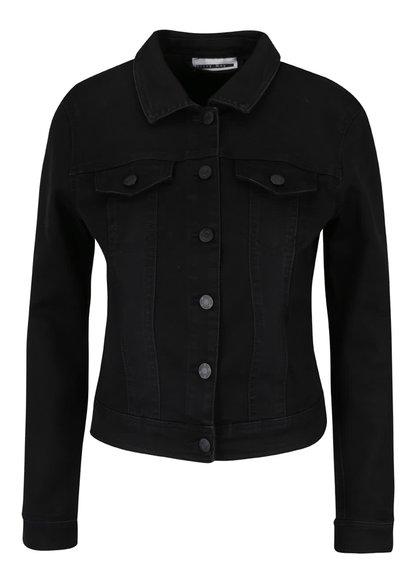 Jachetă neagră din denim Noisy May Sane
