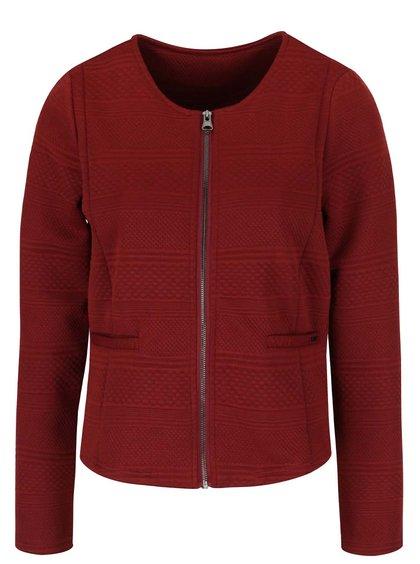 Jachetă roșu Bordeaux cu model VERO MODA Kaysa