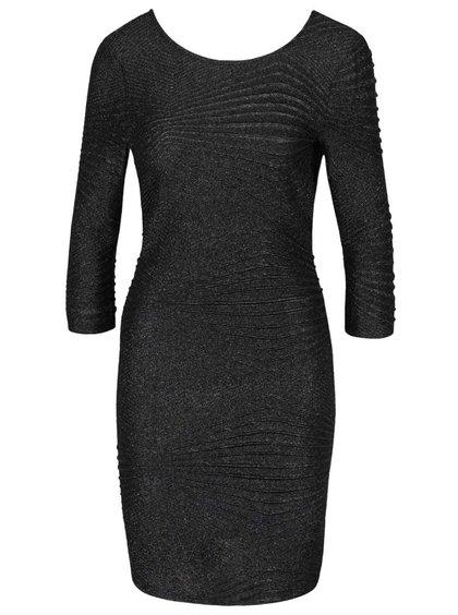 Černé třpytivé šaty Noisy May Heaven