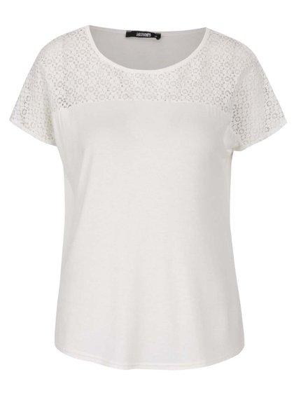 Krémové tričko s krajkovaným sedlem Haily´s Livia