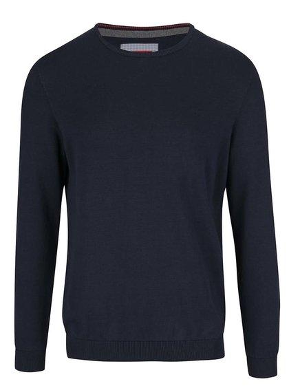 Tmavě modrý pánský svetr s kulatým výstřihem s.Oliver