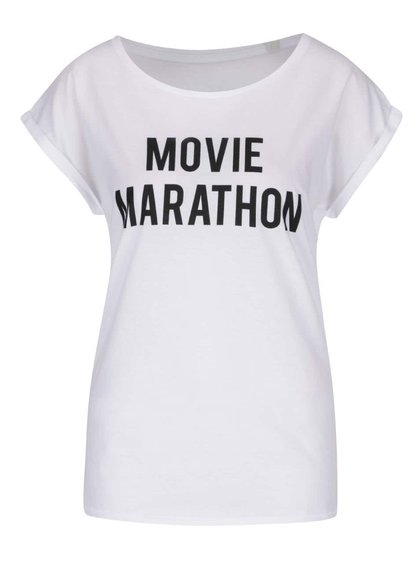 Tricou de damă ZOOT Original Movie Marathon alb