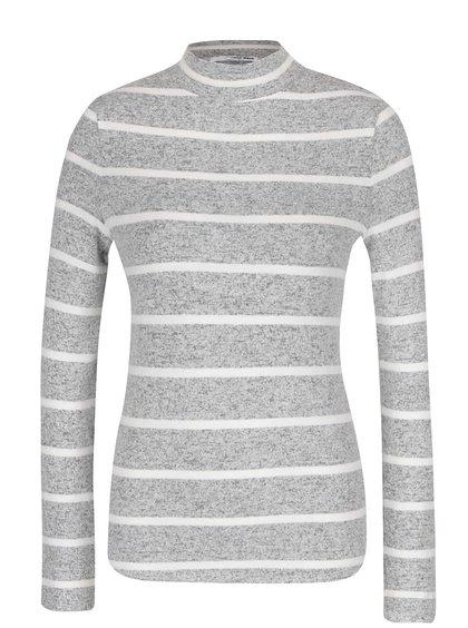 Krémovo-šedé tričko s rolákem TALLY WEiJL