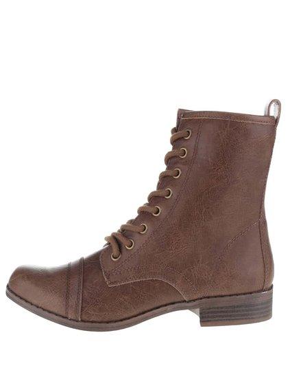 Hnědé kotníkové boty Dorothy Perkins