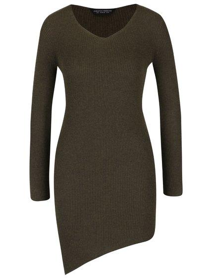 Kaki asymetrický sveter Dorothy Perkins