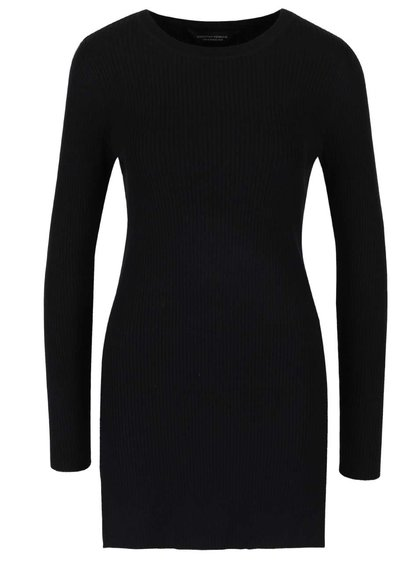 Černý žebrovaný svetr Dorothy Perkins