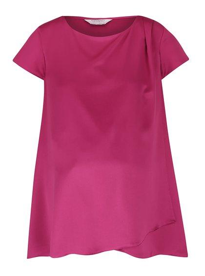 Růžový těhotenský top s překládanou přední částí Dorothy Perkins Maternity