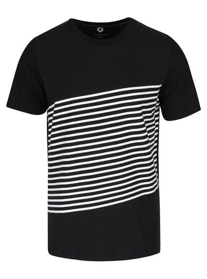 Černé triko s pruhy Jack & Jones Warp