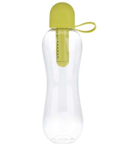 Zelenožlutá přenosná filtračníl láhev se silikonovým víčkem Bobble