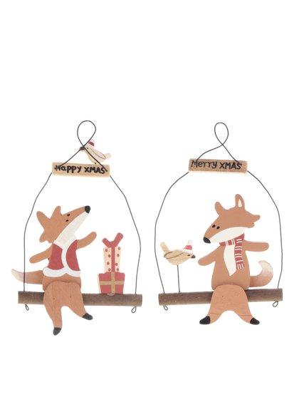 Súprava dvoch vianočných ozdôb s líškou CGB