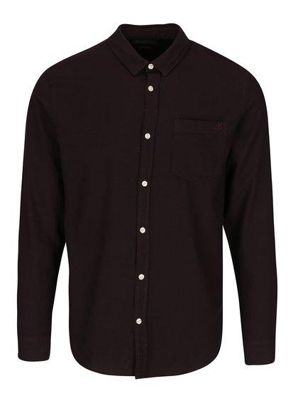 Tmavovínová slim košeľa Jack & Jones Glit