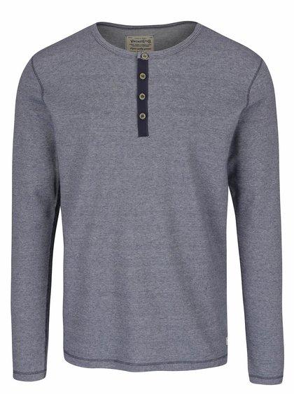 Modré žíhané triko s dlouhým rukávem Jack & Jones Giovanni
