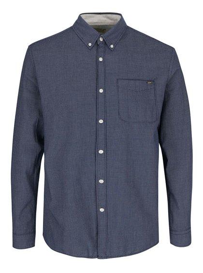 Tmavomodrá slim fit košeľa s jemným vzorom jack & Jones Vans
