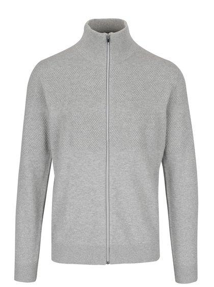 Svetlosivý sveter na zips Jack & Jones Arto
