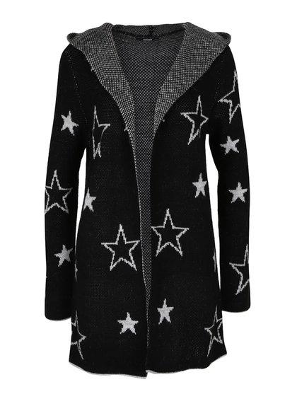 Černý cardigan s hvězdami a kapucí Haily´s Sherine