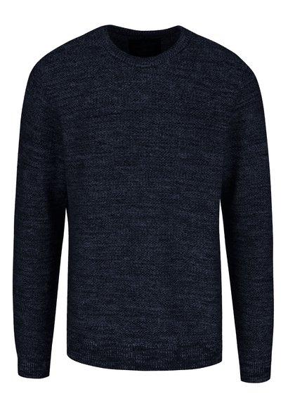 Tmavomodrý melírovaný sveter Jack & Jones Seatlle