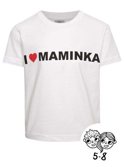 Biele detské unisex tričko ZOOT Kids - I Love Maminka