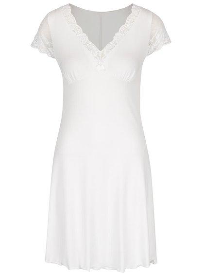 Krémová noční košilka s krajkou Eldar Leonia