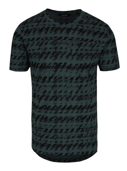 Zelené triko s černým vzorem triko ONLY & SONS Azig